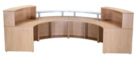 pb desk curved reception desk deluxe pb config 5 reality