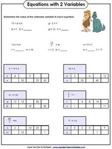 collections of math variable worksheets bridal catalog