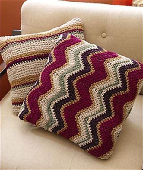 zig zag crochet cushion pattern ravelry zig zag pillow 60320a pattern by lion brand yarn