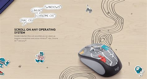 Logitech M238 Mouse Wireless Doodle Collection Sneakerhead logitech m238 doodle collection wireless mouse sneaker 910 005058 11street malaysia