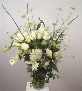 white flower arrangements sympathy flower arrangements by yukiko