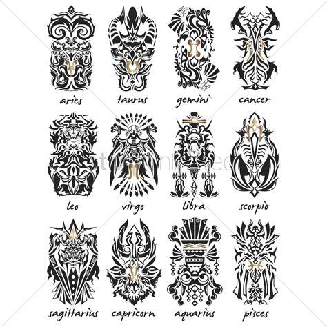 tattoo horoscope designs aries pisces virgo tribal design pictures www