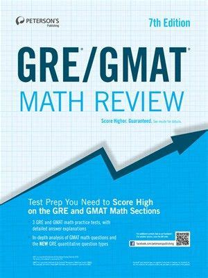 Is It Disadvantage To Submit Gre For Mba by Gre Gmat Math Review By Peterson S Peterson S Gre Gmat