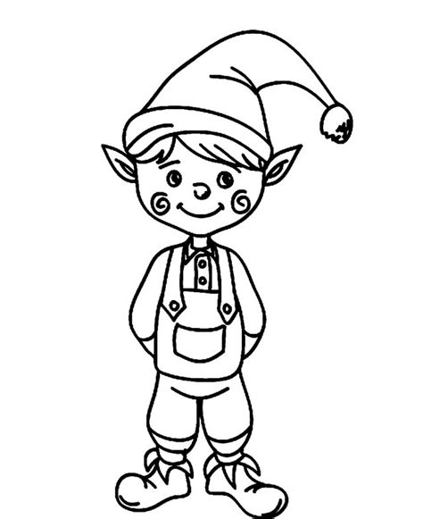 cute coloring pages of elves elf clip art cliparts co