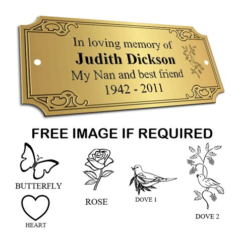 bench plaques bench memorial plaques ornate obmp 0004 163 25 00