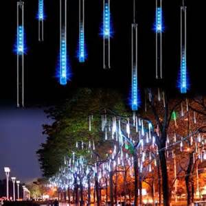 cascading icicle string lights 8 falling drop icicle snow fall string led tree cascading light decor ebay