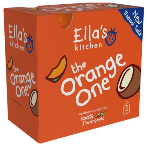 Ella S Kitchen Free Weaning Pack by Ella S Kitchen Smoothie The Orange One Multipack 5 X