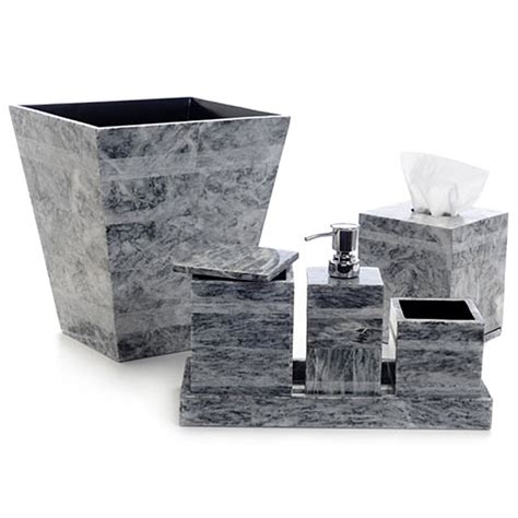 seybert gray etched bath accessories gracious