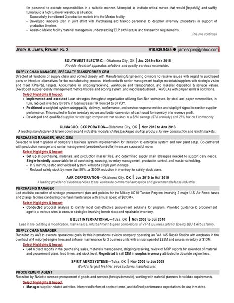 Supply Chain Manager Resume by Jerry Supply Chain Manager Resume