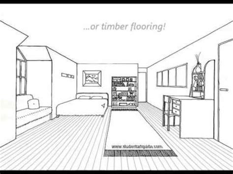 how to draw a bedroom one point perspective room tutorial youtube