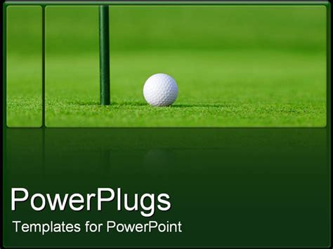 Powerpoint Template Golf Ball Next To Hole In Green Golf Course 4819 Golf Powerpoint Template