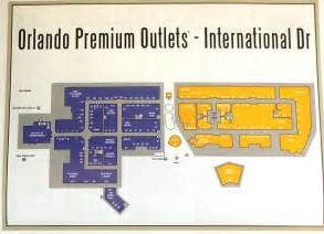 Orlando Premium Outlet Map by Orlando Premium Outlets International Drive Closest