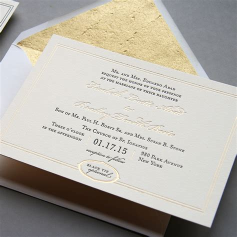Hochzeitseinladung Gold by Wedding Invitation Designers Steel Petal Press