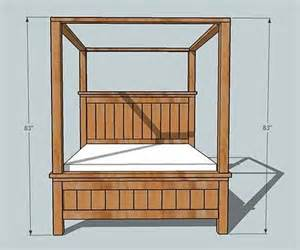 Canopy Beds Plans White Farmhouse Bed Canopy Diy Projects