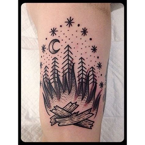 bonfire tattoo bonfire black grey by christian lanouette