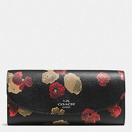 2 Die 4 Coach Multi Snap Earrings by Coach F55675 Slim Envelope Wallet In Halftone Floral