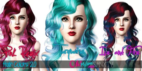 hair color to download for sims 3 hair colors 2 0 sims 3 by bloodysims on deviantart