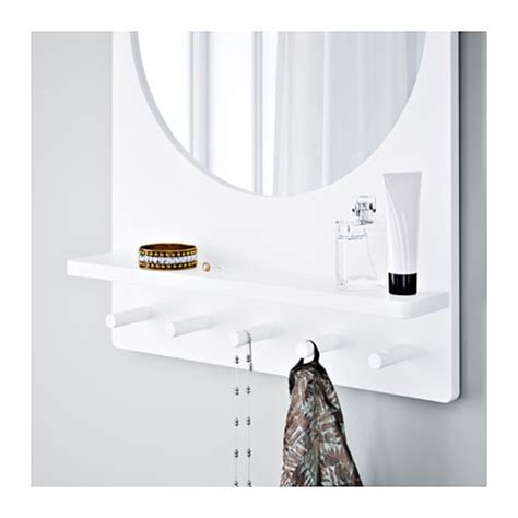 saltr 214 d mirror with shelf and hooks white 50x68 cm ikea
