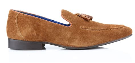 mens suede loafers with tassels apsley mens suede leather tassel slip on loafers
