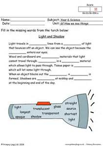 primaryleap co uk light and shadow worksheet