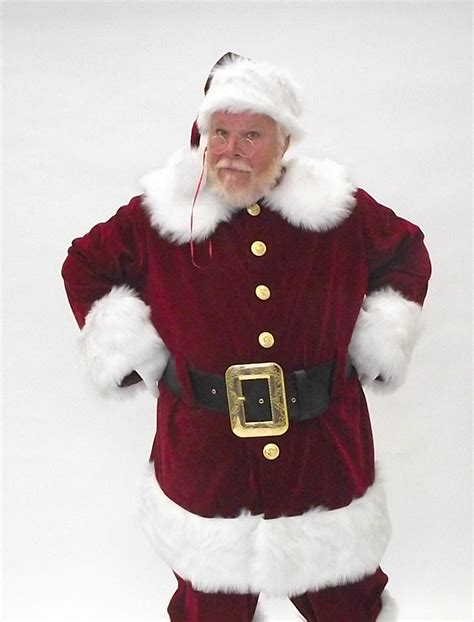 planetsanta classic velvet santa suit with brass colored