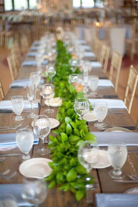 picture of stunning greenery wedding table runners 22