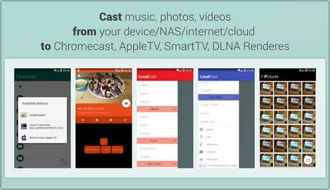 how to chromecast from android localcast for chromecast dlna android apps on play