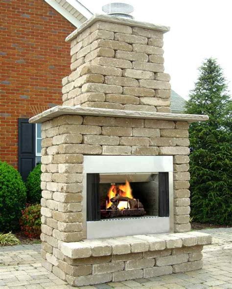 styles of outdoor fireplace kits chocoaddicts