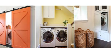 how to hide washer and dryer in bathroom hidden laundry rooms