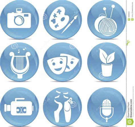 Imagenes Y Simbolos En Las Artes | iconos brillantes como s 237 mbolos de artes en vector fotos