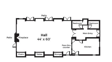 Floor Plan Wedding Reception by Aspen Hall Bend Parks And Recreation District