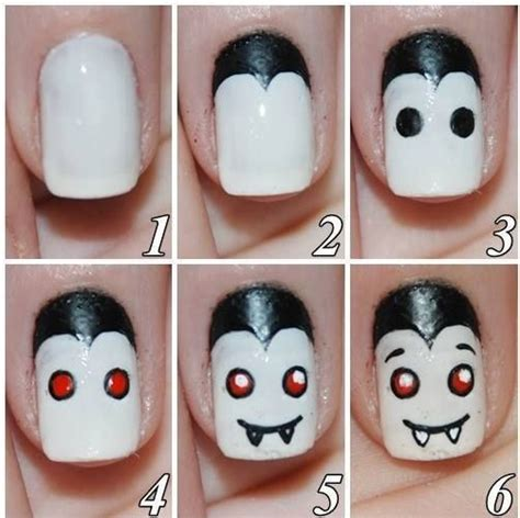 easy nail art on pinterest easy halloween nails art nail stuff pinterest