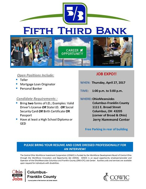 third bank events archive ohiomeansjob columbus franklin county cowic