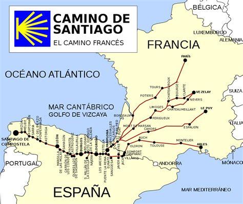 camino de santiago route map file ruta camino de santiago frances svg wikimedia
