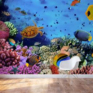 sea life wall murals sea reef life wall mural
