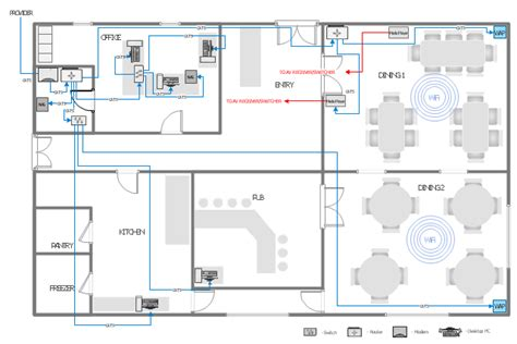 network layout network layout floor plans network