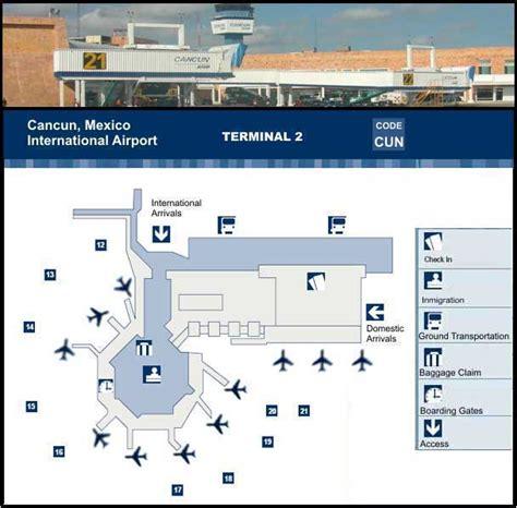 aeropuerto cun cancun international airport map cun