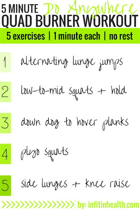 5 minute do anywhere burner workout workout