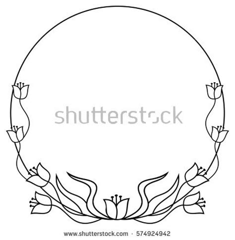round flower frame stock images royalty free images