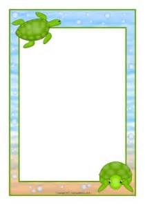 turtle a4 page borders sb11924 sparklebox