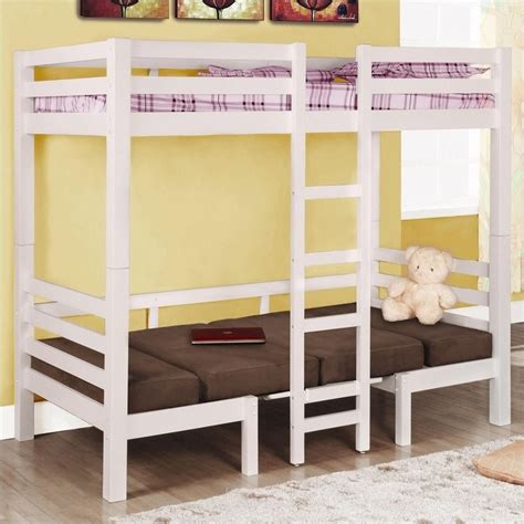 bunk beds convertible coaster convertible loft bunk bed in white