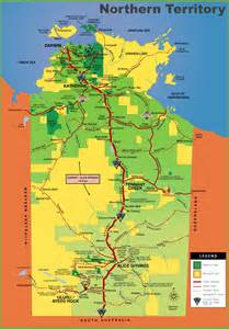 territory map northern territory tourist map