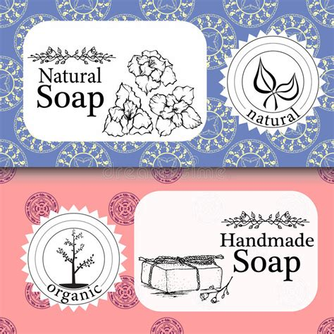 Soap Sler Card Template by Vector Set Of Seamless Patterns Labels And Logo Design
