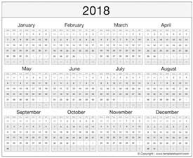 Year Calendar Template Excel by Printable 2018 Calendar Excel Template Free Ms Word Document