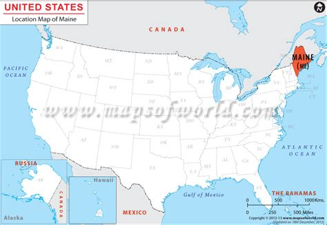 usa map states maine where is maine location of maryland