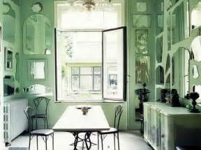 bloombety mint green paint color with wall mirror