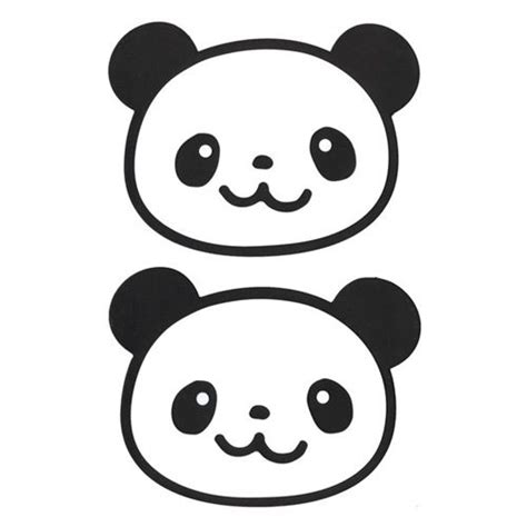imagenes de pandas kawaii para dibujar kawaii panda bear silicone coaster set 2pcs from japan