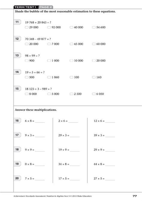 Achievement Standards Assessment - Mathematics: Number