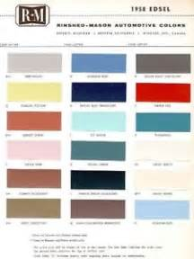 1958 edsel paint color sample chips card oem colors ebay
