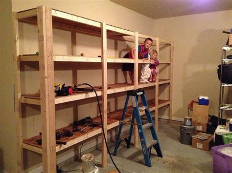 garage shelving plans garage storage shelves garage
